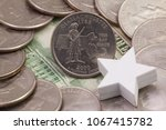 a quarter of massachusetts ...   Shutterstock . vector #1067415782