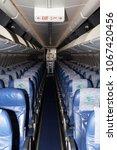 Small photo of Borispol, Ukraine - April 10, 2018: YI-AST Iraqi Airways Boeing 737-800 economy class seats. Editorial use only