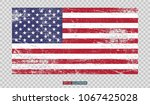 grunge american flag on... | Shutterstock .eps vector #1067425028