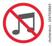 no music glyph icon ... | Shutterstock .eps vector #1067428865