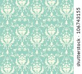 vector damask seamless pattern... | Shutterstock .eps vector #106743155