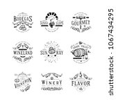 wine badge. craft retro vintage ... | Shutterstock .eps vector #1067434295