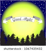 good night.night in the forest... | Shutterstock .eps vector #1067435432