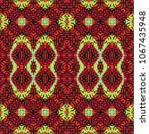 endless color engraving pattern.... | Shutterstock .eps vector #1067435948