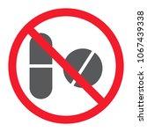 no pills glyph icon ... | Shutterstock .eps vector #1067439338