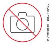 no camera thn line icon ... | Shutterstock .eps vector #1067440412