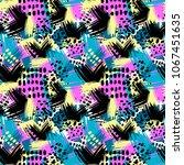 seamless brushpen textile... | Shutterstock .eps vector #1067451635