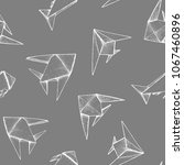 origami   seamless pattern with ... | Shutterstock .eps vector #1067460896