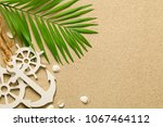 summer background with... | Shutterstock . vector #1067464112