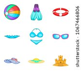 water occupation icons set.... | Shutterstock .eps vector #1067466806