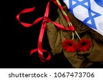 Israeli Flag And Uniforms With...