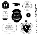 vector set  calligraphic design ... | Shutterstock .eps vector #106748075