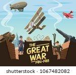 the great war scene | Shutterstock .eps vector #1067482082