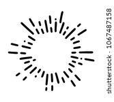 vintage sunburst explosion... | Shutterstock .eps vector #1067487158