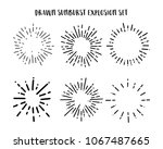 collection of vintage sunburst... | Shutterstock .eps vector #1067487665