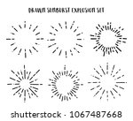 collection of vintage sunburst... | Shutterstock .eps vector #1067487668