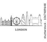 landscape city silhouette | Shutterstock .eps vector #1067489648