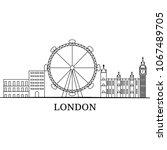 landscape city silhouette | Shutterstock .eps vector #1067489705