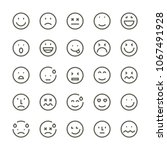 smiley face emoji icons | Shutterstock .eps vector #1067491928