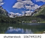 lake in the hight tatras | Shutterstock . vector #1067492192