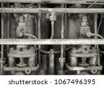 Monochrome Close Up Image Of An ...