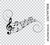music notes  design element ... | Shutterstock .eps vector #1067497808