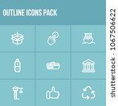 pack icon set and energy with...