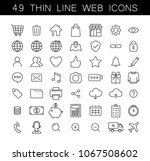 universal thin line web icons... | Shutterstock .eps vector #1067508602