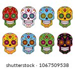 sugar skull vector illustration | Shutterstock .eps vector #1067509538