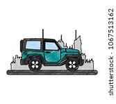 suv truck vehicle scribble | Shutterstock .eps vector #1067513162