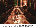 a beautiful table setting for... | Shutterstock . vector #1067518658