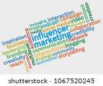 influencer marketing word cloud ... | Shutterstock .eps vector #1067520245