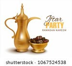 ramadan kareem background.... | Shutterstock .eps vector #1067524538