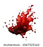 blood red splash isolated on a... | Shutterstock .eps vector #1067525162