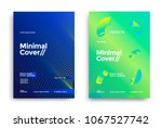 minimal covers design with... | Shutterstock .eps vector #1067527742