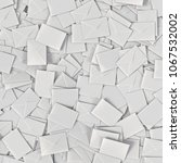 large pile of rectangular white ... | Shutterstock . vector #1067532002