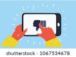vector cartoon illustration of... | Shutterstock .eps vector #1067534678
