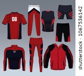 set of sport wear collection | Shutterstock .eps vector #1067536142