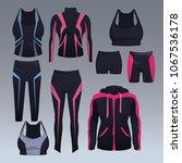 set of sport wear collection | Shutterstock .eps vector #1067536178