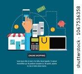 online shopping infographic | Shutterstock .eps vector #1067536358