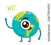 cartoon earth  monster ... | Shutterstock .eps vector #1067541692