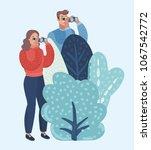 vector cartoon illustration of... | Shutterstock .eps vector #1067542772