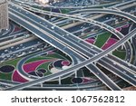 view of sheikh zayed road... | Shutterstock . vector #1067562812