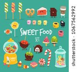 funny sweet food characters... | Shutterstock .eps vector #1067562992