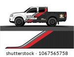 truck graphics. simple bold... | Shutterstock .eps vector #1067565758