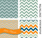 a set of seamless retro zig zag ... | Shutterstock .eps vector #106756706