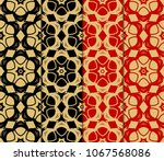 set of seamless background... | Shutterstock .eps vector #1067568086