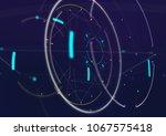 abstract techno futuristic... | Shutterstock . vector #1067575418