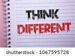 word writing text think... | Shutterstock . vector #1067595728