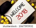 word writing text welcome 2018. ...   Shutterstock . vector #1067595932